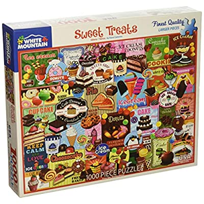 White Mountain Puzzles Sweet Treats Jigsaw Puzzle, Multicolor: Toys & Games