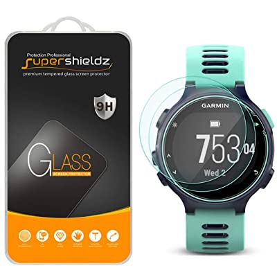 (2 Pack) Supershieldz for Garmin Forerunner 735XT Tempered Glass Screen Protector, 0.33mm, Anti Scratch, Bubble Free