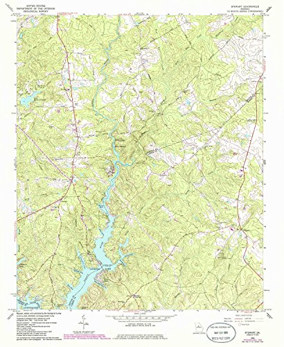 Stewart GA topo map, 1:24000 scale, 7.5 X 7.5 Minute, Historical, 1964, updated 1985, 26.8 x 22 IN - - Store Map Lakeside