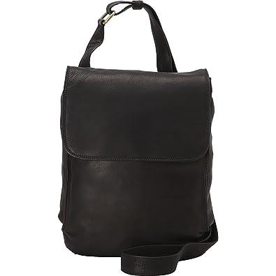 3b87450c9eb1 Derek Alexander N S Half Flap Shoulder Bag (Black)  Handbags  Amazon.com