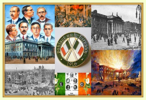 Easter Rising 1916 Ireland Memorial 100th Anniversary 11x14 Double Matted 8x12 premium art print -