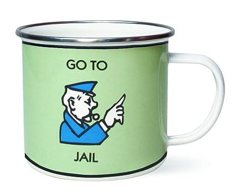 amazon com monopoly coffee mug go to jail novelty gift 1 mug
