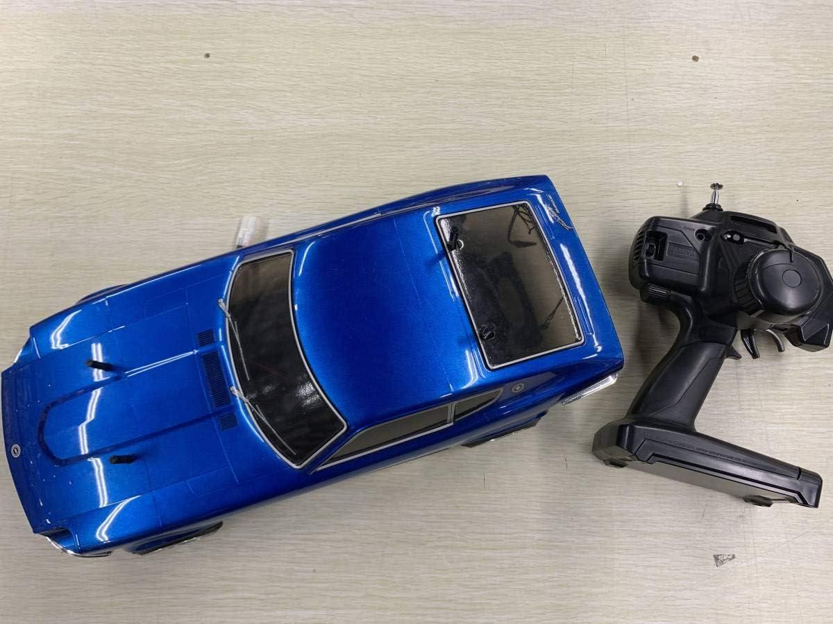 タミヤ 110 電動RCカー TT-01 TYPE-Eシャーシ メカ類フル装備 完成品 日産 フェアレディ 240Z ミッドナイトブルー 電飾加工 ボディ付き