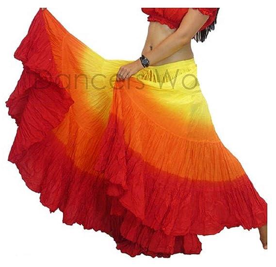 Dancers World - Falda de algodón para Mujer Gypsy de 25 Yardas ...