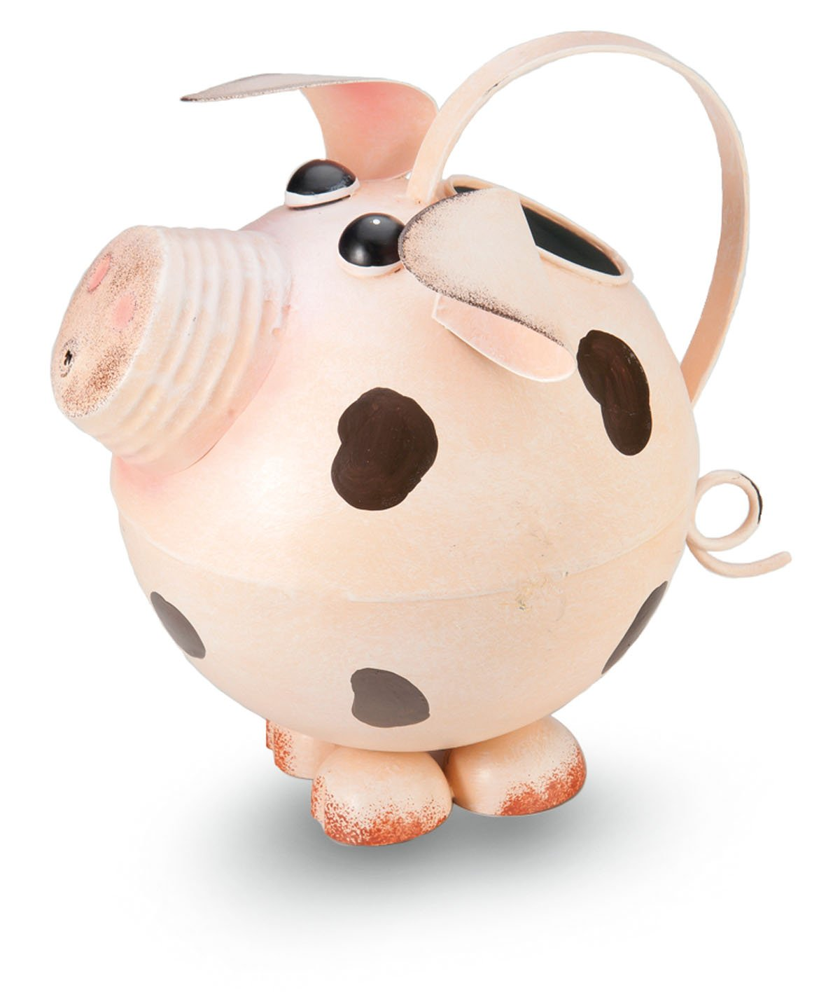 amazon com pink pig antiqued rustic metal watering can 8