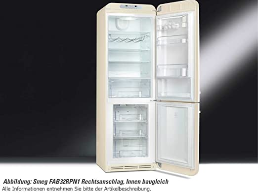 Smeg Kühlschrank Gefrierkombination : Smeg kühl gefrierkombination fab32ron1 orange rechtsanschlag a no