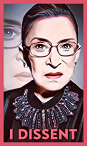 Ruth Bader Ginsburg RBG I DISSENT Vinyl Decal for Walls, Laptop, Car 3x5-2 PACK