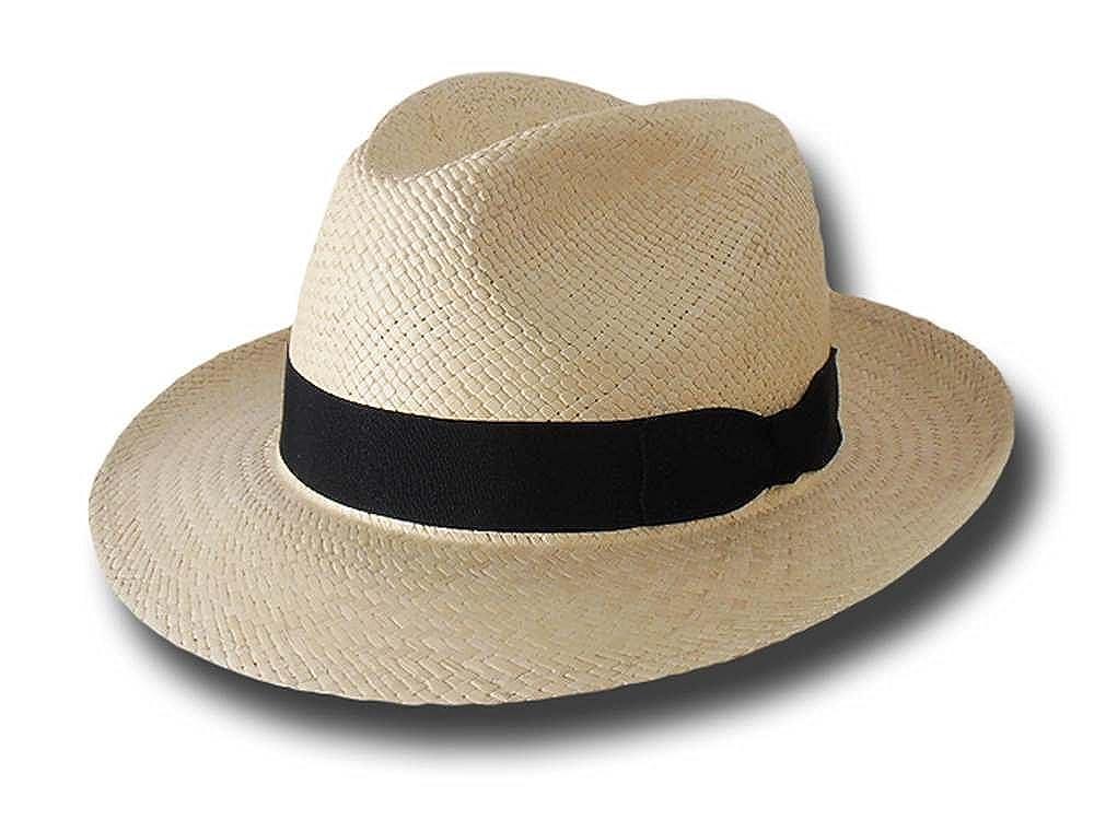 Cappello panama originale fedora ala 6 cm Spotorno57cm  Amazon.it   Abbigliamento f1085b0f27e3