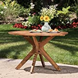 Stanyan | 5 Piece Outdoor Acacia Wood Dining Set | Perfect for Patio | with Teak Finish