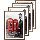 Edenseelake 11x17 Picture Frame Set 4Pcs Rustic Multi Brown Poster Photo Frames for Wall Hanging Decoration