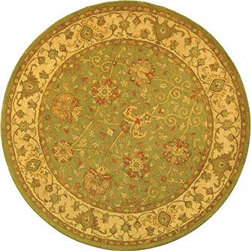 Safavieh Antiquities Collection AT21D Handmade Traditional Oriental Sage Wool Round Area Rug (6' Diameter)