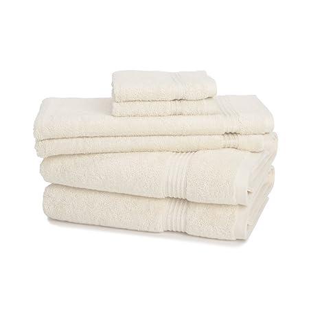 Juego de toallas de 6 piezas 100 % algodón egipcio con 600 GMC de ...