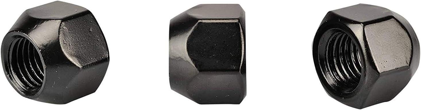 16x Negro Tuercas de las Ruedas Tuerca para Llantas Acero M12x1 5 SW19