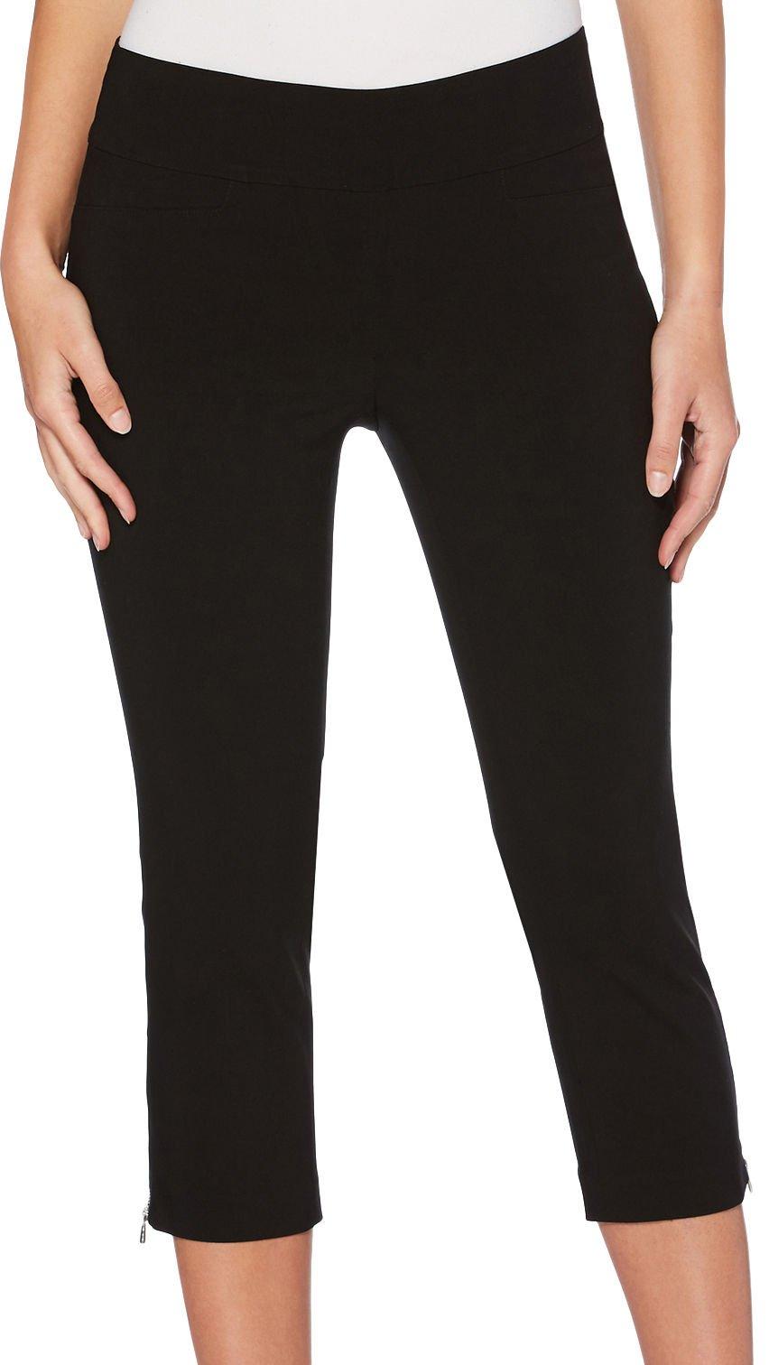 Rafaella Women's Petite Supreme Stretch Capri, Black, 12P
