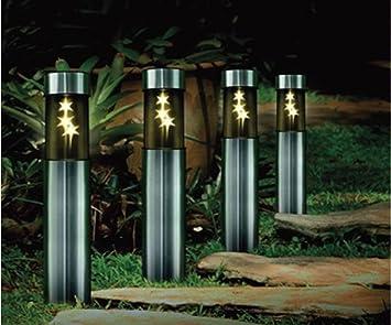 Solar Stainless Steel 3 White LED Star Bollard Patio Garden Post Light Lamp  Beautiful Night LightSolar Stainless Steel 3 White LED Star Bollard Patio Garden Post  . Garden Patio Lights Uk. Home Design Ideas