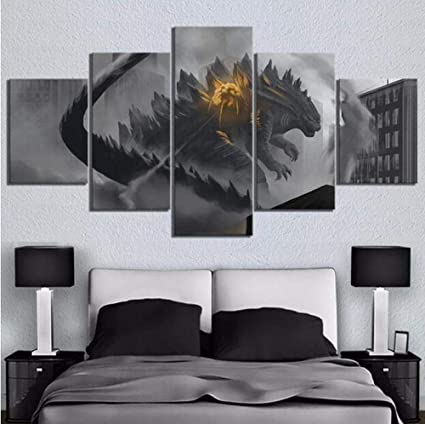 A KPWAN Leinwanddrucke 5 Panels Animation Dragon Ball Leinwand Malerei Wandkunst Poster Modular Home Decor Wohnzimmer Bild Kein Rahmen