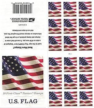 Usps Us Flag 2017 Forever Stamps Atm Sheet Of 18 Stamps
