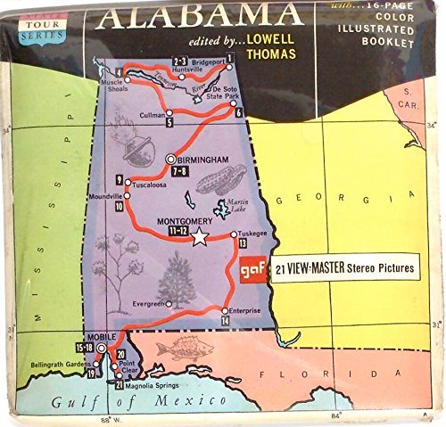 Alabama State Tour 3d View-Master 3 Reel Packet