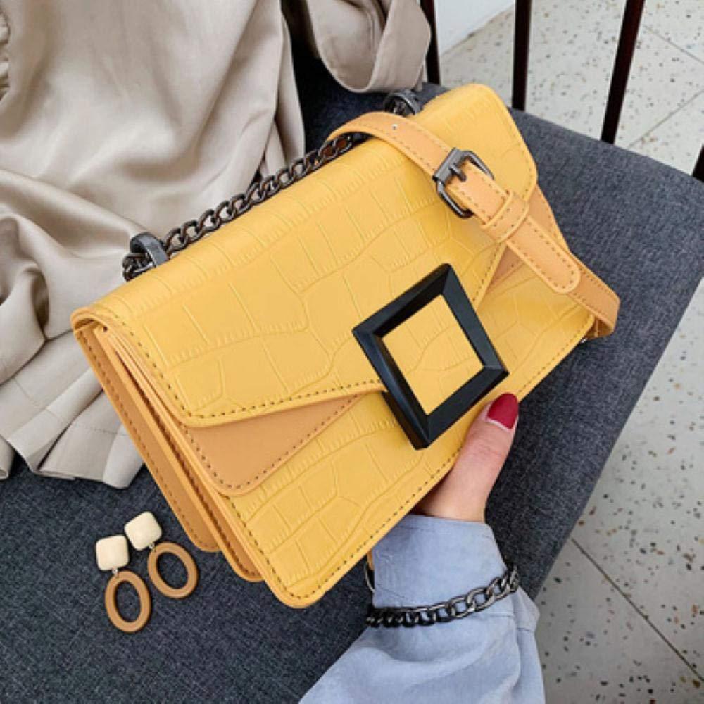 YDZ läder crossbody väskor för kvinnor liten axel messenger väska kvinna kedja handväskor, beige Svart