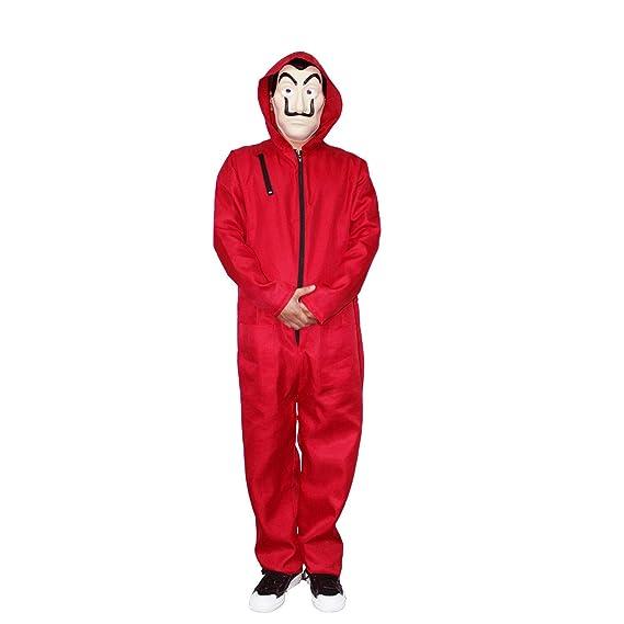 Traje de la Casa de Papel con Mascara,Rojo Mono Cosplay ...