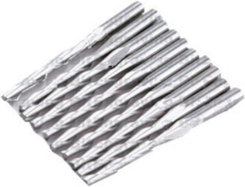 SMO 10 x 1//8  Bit Carbide Deux Flute Spiral DEC 2.5mm CEL12mm