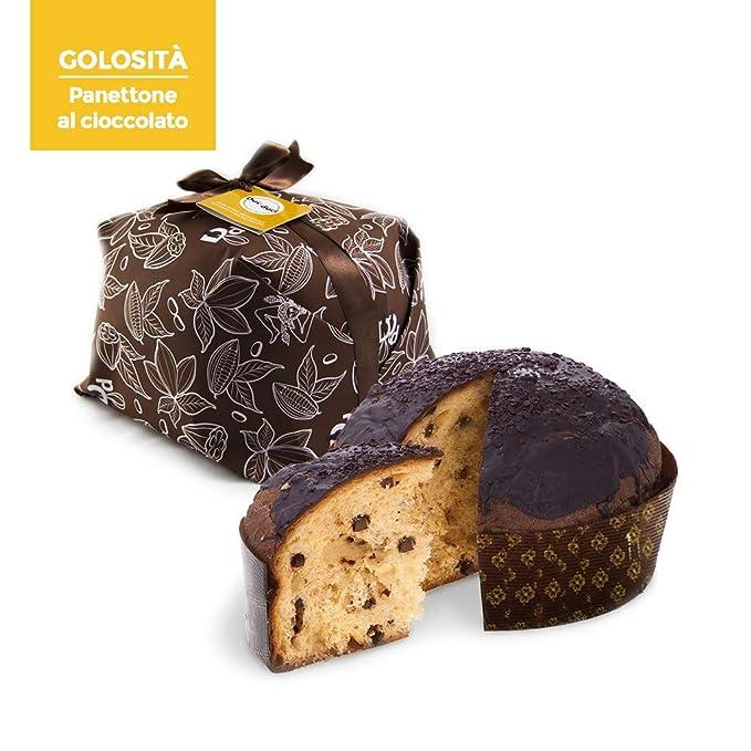 2 x 500 gr de panettone elaborado con gotas de chocolate siciliano - Duci duci - pastelería artesanal, ...
