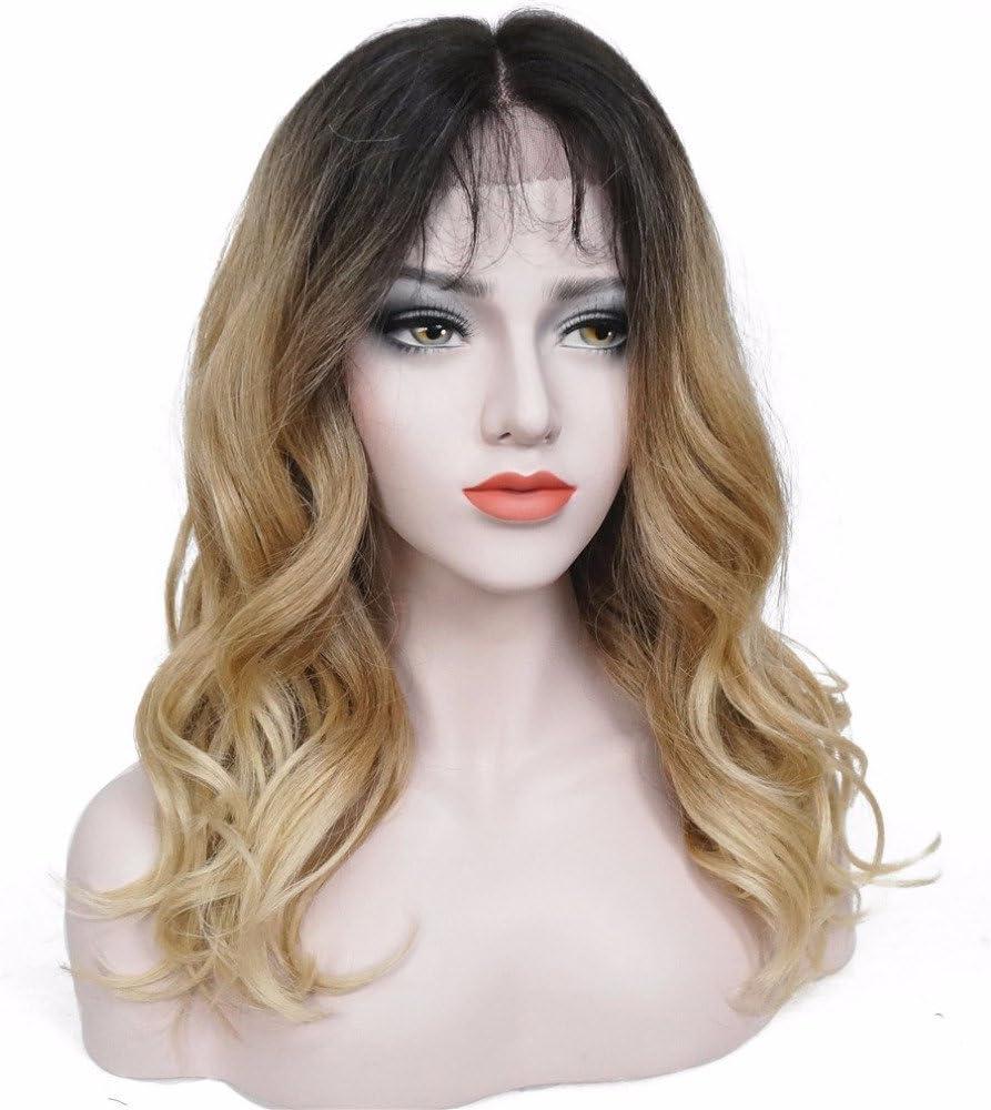wigstyle Fibra Kanekalon sintético de la mujer Lace Front Peluca ...