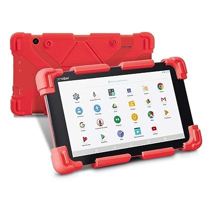 Tablet 7 pulgadas para niños, X-View KIDS 7 pulgadas, con wifi, Android 7.1, Resolución HD, Quad Core 1GB + 8 GB RAM, Doble cámara, con funda bumper ...