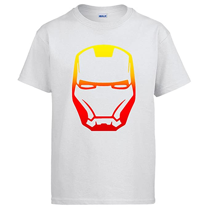 Camiseta Iron man mascara - Blanco, S
