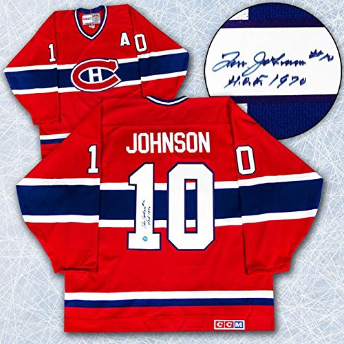 Tom-Montreal-Canadiens-Johnson-Autographed-Jersey-Retro-CCM-Autographed-NHL-Jerseys