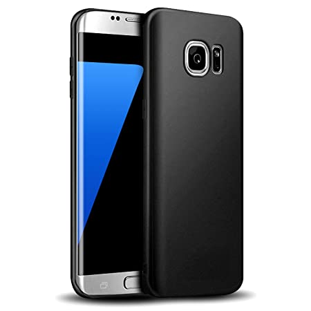 Whew Hülle Kompatibel Samsung Galaxy S7, Matt Schwarz Silikon Schutzhülle aus Soft Premium-TPU, Anti-Dropping Handyhüllen, Ul