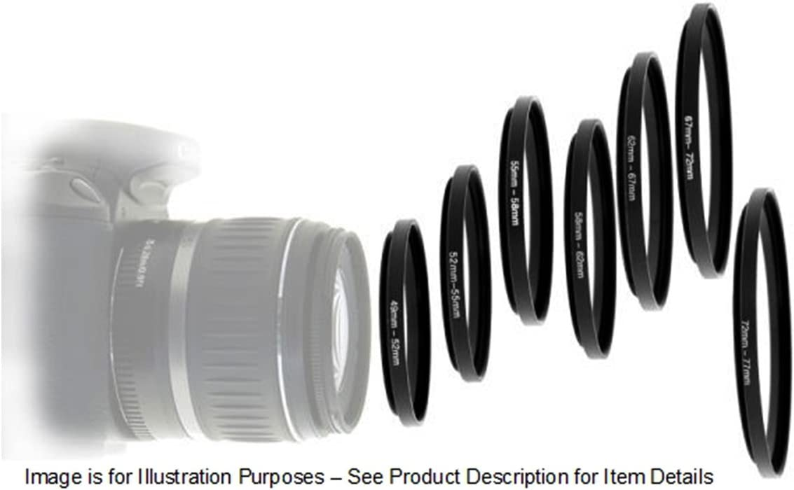 UltraPro Step-Down Adapter Ring 58mm Lens to 52mm Filter Size