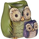 Grasslands Road Crimson Hollow Owl Toothpick Holder 470785 - Green