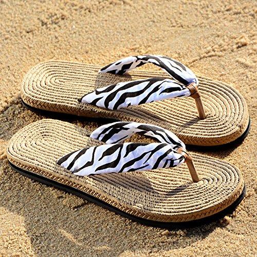 Pantoufles black Pantoufles de de plage nagqYBWw