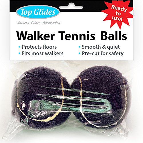 (Top Glides Precut Walker Tennis Ball Glides (Black))