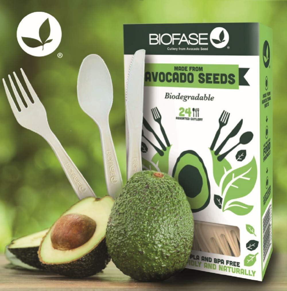 Biofase - Juego de 1000 cucharas desechables biodegradables de ...