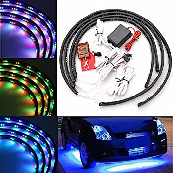 Amazon ils 7 color led strip car under glow underbody system ils 7 color led strip car under glow underbody system neon light kit mozeypictures Gallery