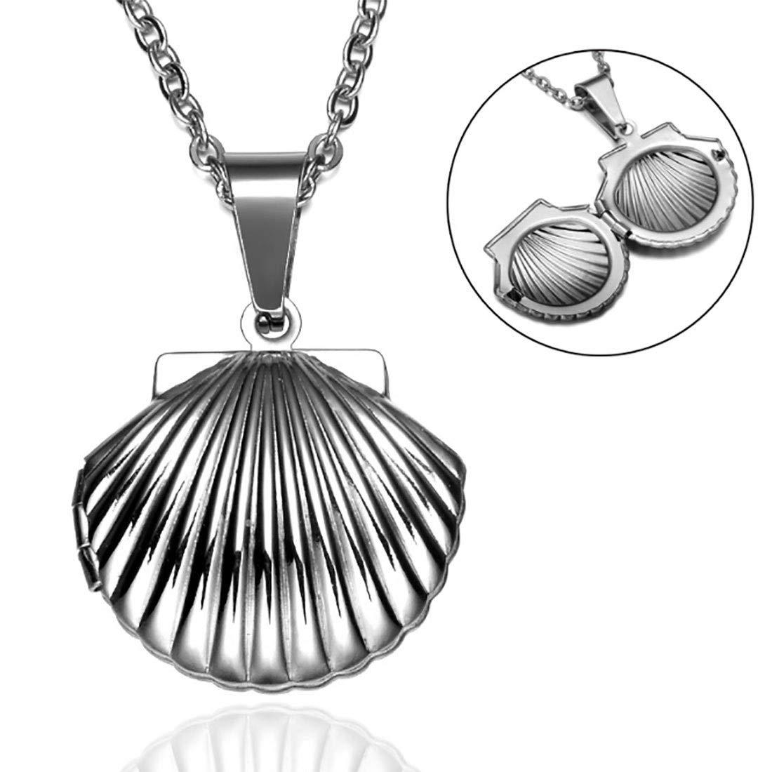KIRLA Pendant Stainless Steel Shell Open Pendant Necklace Pendant Necklace 2.2 2.3cm