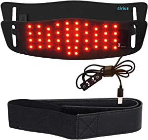 Cirius LED Belt Compact Near-Infrared Red Light Therapy Device with Cord Home Use Wearable Deep Penetrating Low-Level Light Therapy for Pain Relief, Muscle Therapy