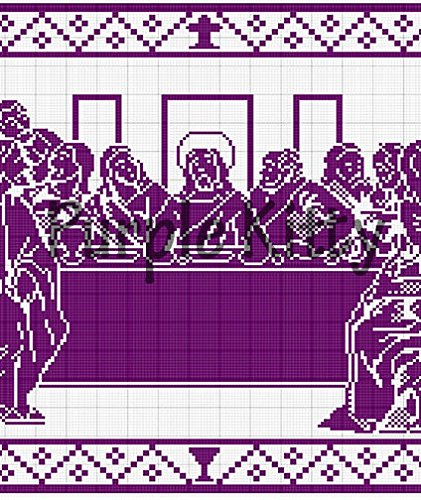 Amazon The Last Supper Filet Crochet Pattern Cc1 Arts Crafts