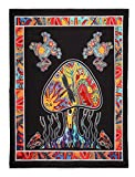 Where Can I Buy Eastern King Sheets FLY SPRAY Large Tapestry Psychedelic Jellyfish Frog Tie Dye Hippy Wall Hanging Throw Polyester Durable Indian Coverlet Blanket Curtain Decor (80x58inches)