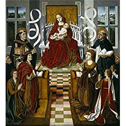 Oil Painting 'Master Of The Virgin Of The Catholic Kings The Virgin Of The Catholic Kings Ca. 1491 ' Printing On Polyster Canvas , 24 X 26 Inch / 61 X 67 Cm ,the Best Wall Art Artwork And Home Gallery Art And Gifts Is This Cheap But High Quality Art