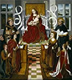 High Quality Polyster Canvas ,the Amazing Art Decorative Canvas Prints Of Oil Painting 'Master Of The Virgin Of The Catholic Kings The Virgin Of The Catholic Kings Ca. 1491 ', 10 X 11 Inch / 25 X 28 Cm Is Best For Kitchen Gallery Art And Home Artwork And