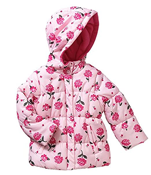72ac71f7f Child of Mine by Carter s Baby Toddler Girl Printed Puffer Jacket