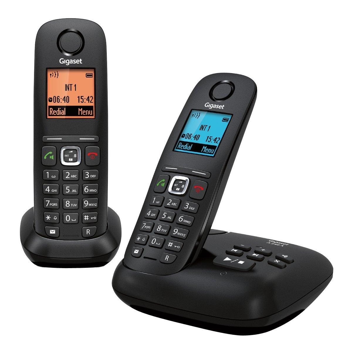 Negro Gigaset Gigaset A540 Duo Pack de 2 tel/éfonos Fijo inal/ámbricos Manos Libres,DECT//Gap Versi/ón Importada