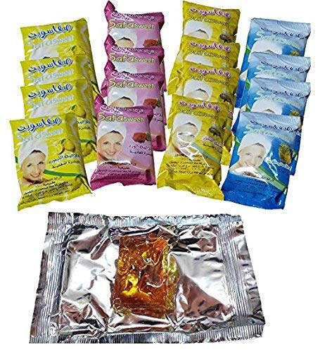 Lot Of 16 x 800 gm Sweet Packet Sugaring Sugar Wax Hair Removal 100% Natural All Essence Waxing Paste For Bikini, Legs, Arms, Back And Body Hair Remove Egypt