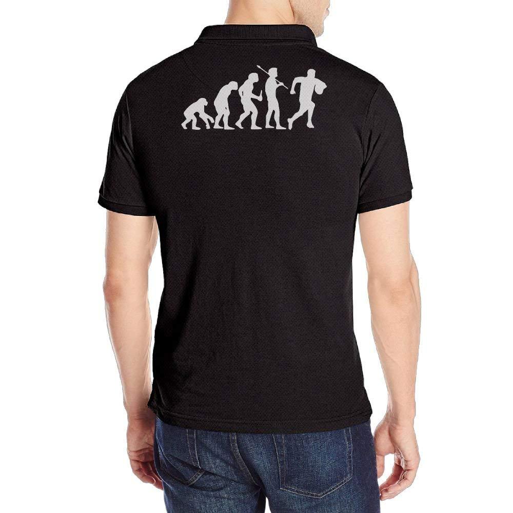 sretinez Mens Evolutions Rugby Short Sleeves Polo Shirts