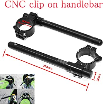 "CNC 1/"" Billet Clip On Riser Suzuki GSXR 1300 600 750 1000 Adjust Angle Handlebar"