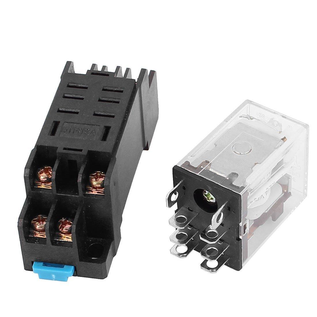 Deal Mux 24/V AC Coil 8/broches DPDT LED Lampe de contr/ôle Puissance relais w 8/vis socle