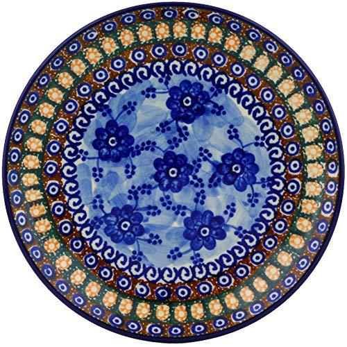 Polmedia Polish Pottery 8-inch Stoneware Plate H5573E Hand Painted from Ceramika Artystyczna in Boleslawiec Poland. Shape S459A(086) Pattern P1614A(U57A) Unikat (Artystyczna Polish Stoneware Ceramika)